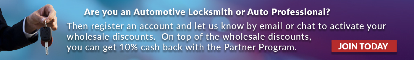 Discounts for locksmiths and automotive professionals