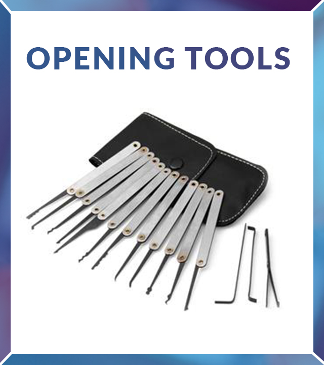 Locksmith opening tools for lockouts